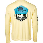 Scales Gear Men's Sailfish Badge Performance Long Sleeve Shirt