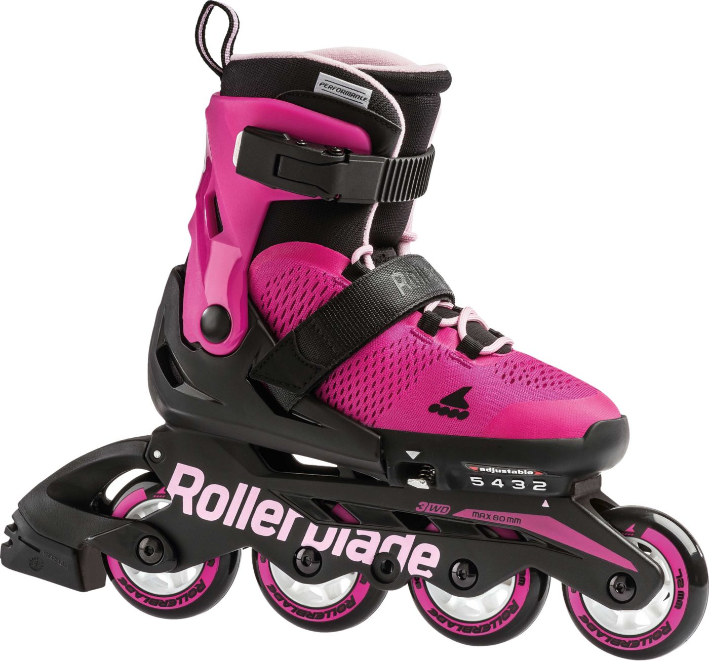 Rollerblade Girls' Microblade Adjustable Inline Skates