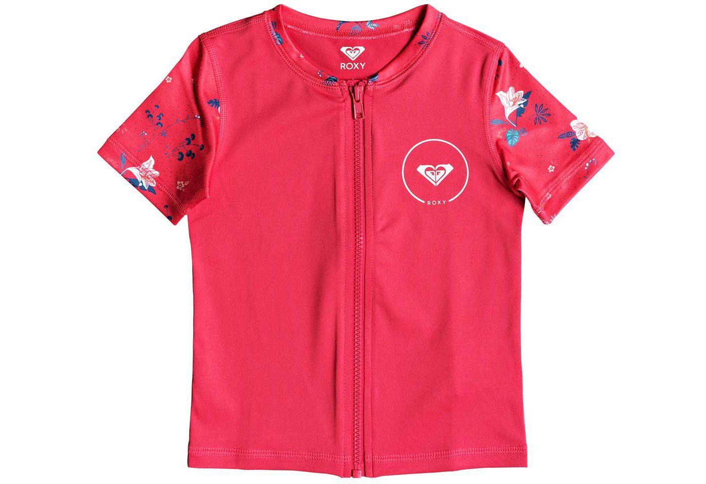 Roxy Girls' Shortbreak Short Sleeve Zippered Rash Guard