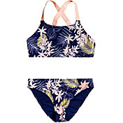 5e45ec423bd79 Product Image · Roxy Girls  Bikini Point Crop Top Set