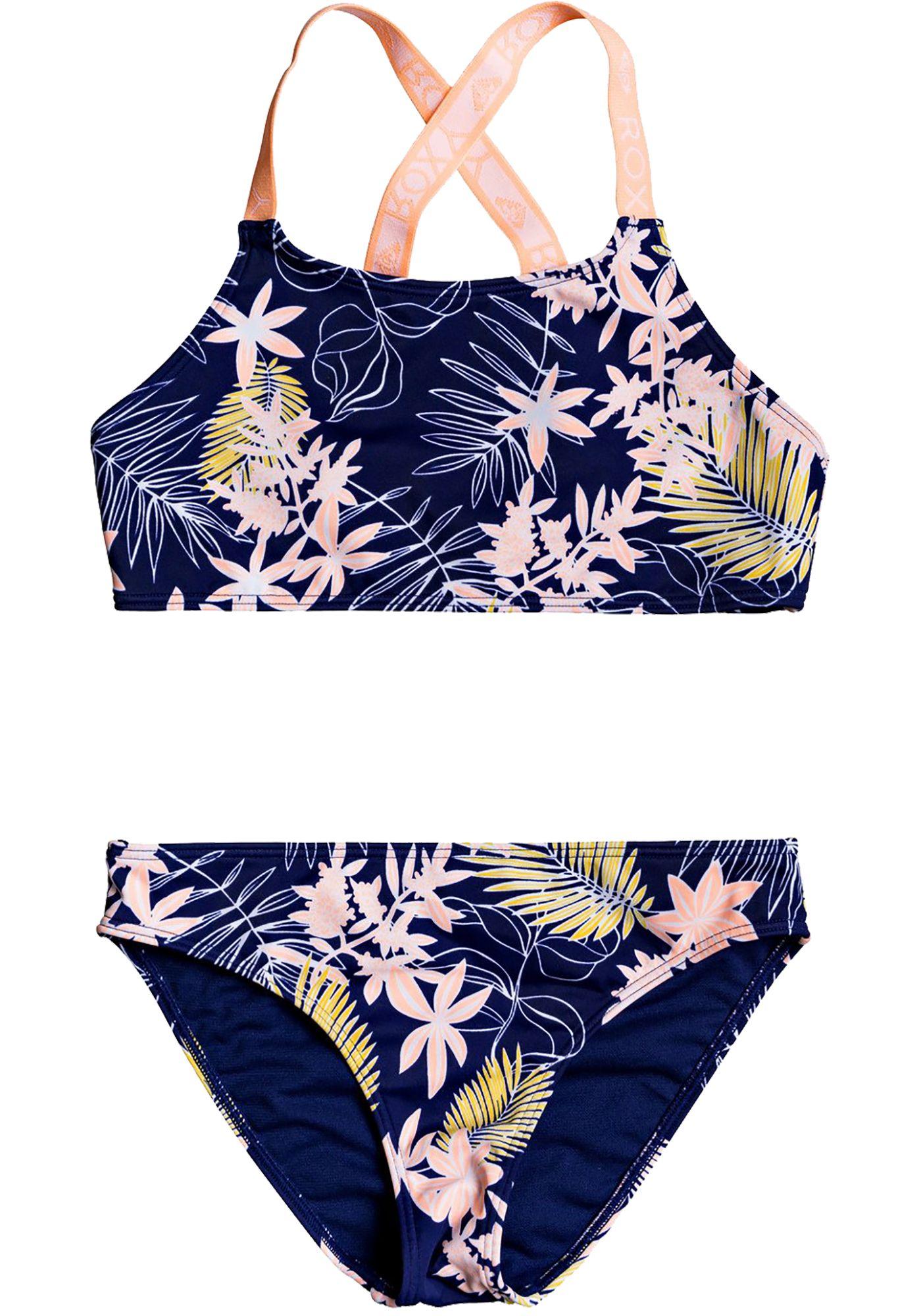 Roxy Girls' Bikini Point Crop Top Set