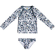 Roxy Girls' Magic Seeker Long Sleeve Rash Guard Set