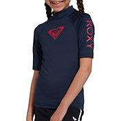 Roxy Girl's Whole Hearted Short Sleeve Rash Guard