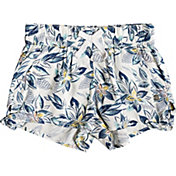 Roxy Girls' West South Viscose Shorts in Marshmallow Flower Power