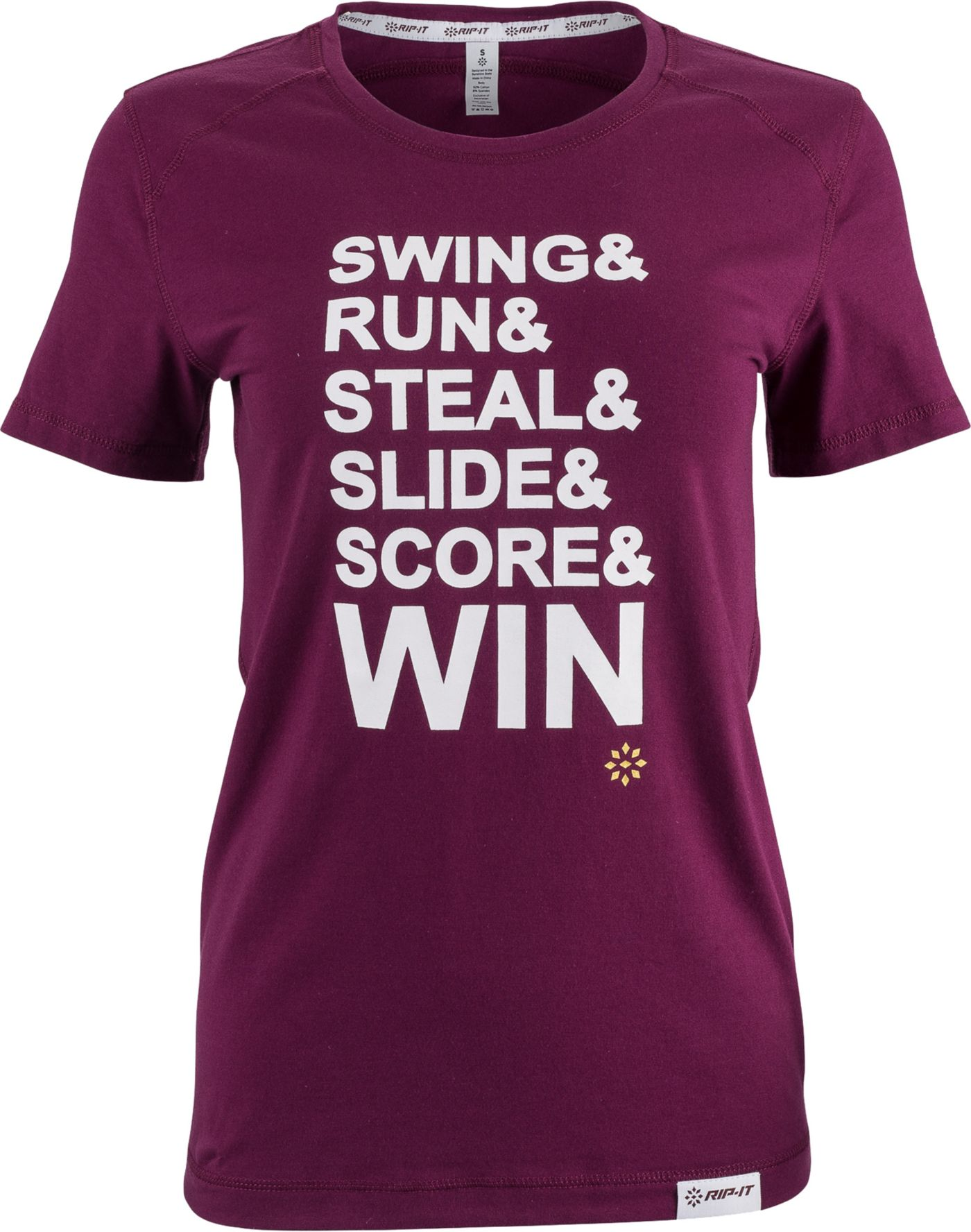 "RIP-IT Women's ""Swing, Run, Steal"" Graphic Softball T-Shirt"