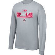 Top of the World Men's Ohio State Buckeyes Gray 2018 Big Ten Football Champions Locker Room Long Sleeve T-Shirt