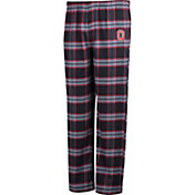 Scarlet & Gray Men's Ohio State Buckeyes Black/Scarlet Dreamer Lounge Pants