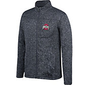 Scarlet and Gray Men's Ohio State Buckeyes Pioneer Black Full-Zip Top