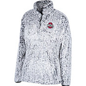 Scarlet & Gray Women's Ohio State Buckeyes Gray Coast to Coast Sherpa Jacket