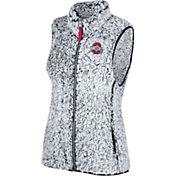 Scarlet & Gray Women's Ohio State Buckeyes Gray Lift Sherpa Vest