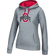 Scarlet & Gray Women's Ohio State Buckeyes Gray Essential Hoodie