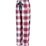 Scarlet & Gray Women's Ohio State Buckeyes Scarlet/White Flannel Dorm Pants