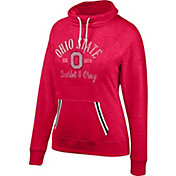 Scarlet & Gray Women's Ohio State Buckeyes Scarlet Day-Break Cowl Neck Fleece
