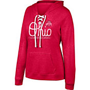 Scarlet & Gray Women's Ohio State Buckeyes Scarlet Sea-Side Lace-Up Hoodie