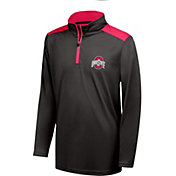 Scarlet & Gray Youth Ohio State Buckeyes Black Quarter-Zip Top