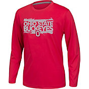 Scarlet & Gray Youth Ohio State Buckeyes Scarlet Callout Long Sleeve Tee