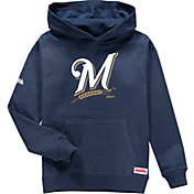 Stitches Youth Milwaukee Brewers Pullover Hoodie