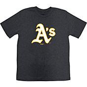 Stitches Youth Oakland Athletics Black T-Shirt