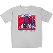 Stitches Youth Washington Nationals Grey T-Shirt