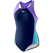 Speedo Girls' Splice Racerback Swimsuit