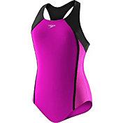 Speedo Girls' Splice Racerback Swimsuit