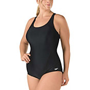Speedo Women's Plus Size Crossback Princess Seam Swimsuit