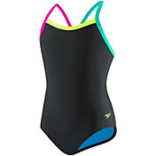 Speedo Women's Solid Flipturns Propel Back Swimsuit