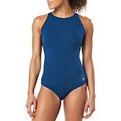 Speedo Women's Zip High Neck Swimsuit