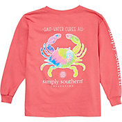 Simply Southern Girls' Crab Long Sleeve Shirt