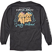 Simply Southern Girls' Happy Long Sleeve Shirt