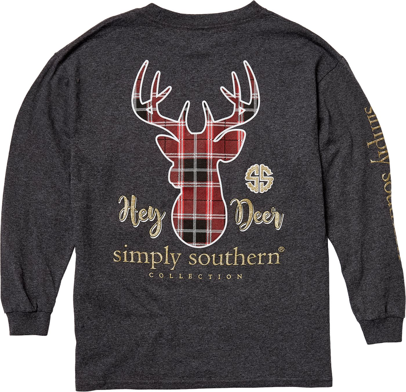 Simply Southern Girls' Hey Deer Long Sleeve Shirt
