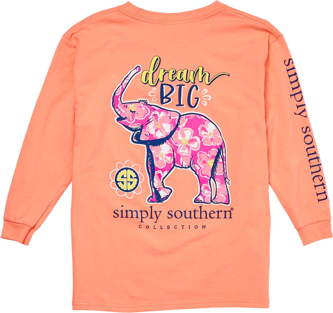 Simply Southern Girls' Elephant Long Sleeve Shirt