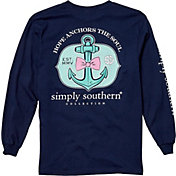 Simply Southern Girls' Anchor Long Sleeve Shirt