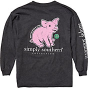 Simply Southern Girls' Pig Long Sleeve Shirt