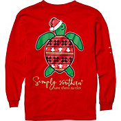 Simply Southern Girls' Save The Turtles Holiday Long Sleeve Shirt