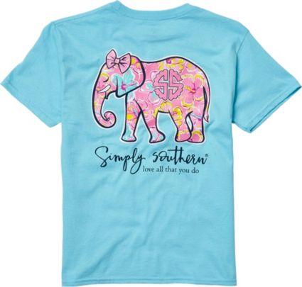 da9b21466249e Simply Southern Girls  Elephant T-Shirt