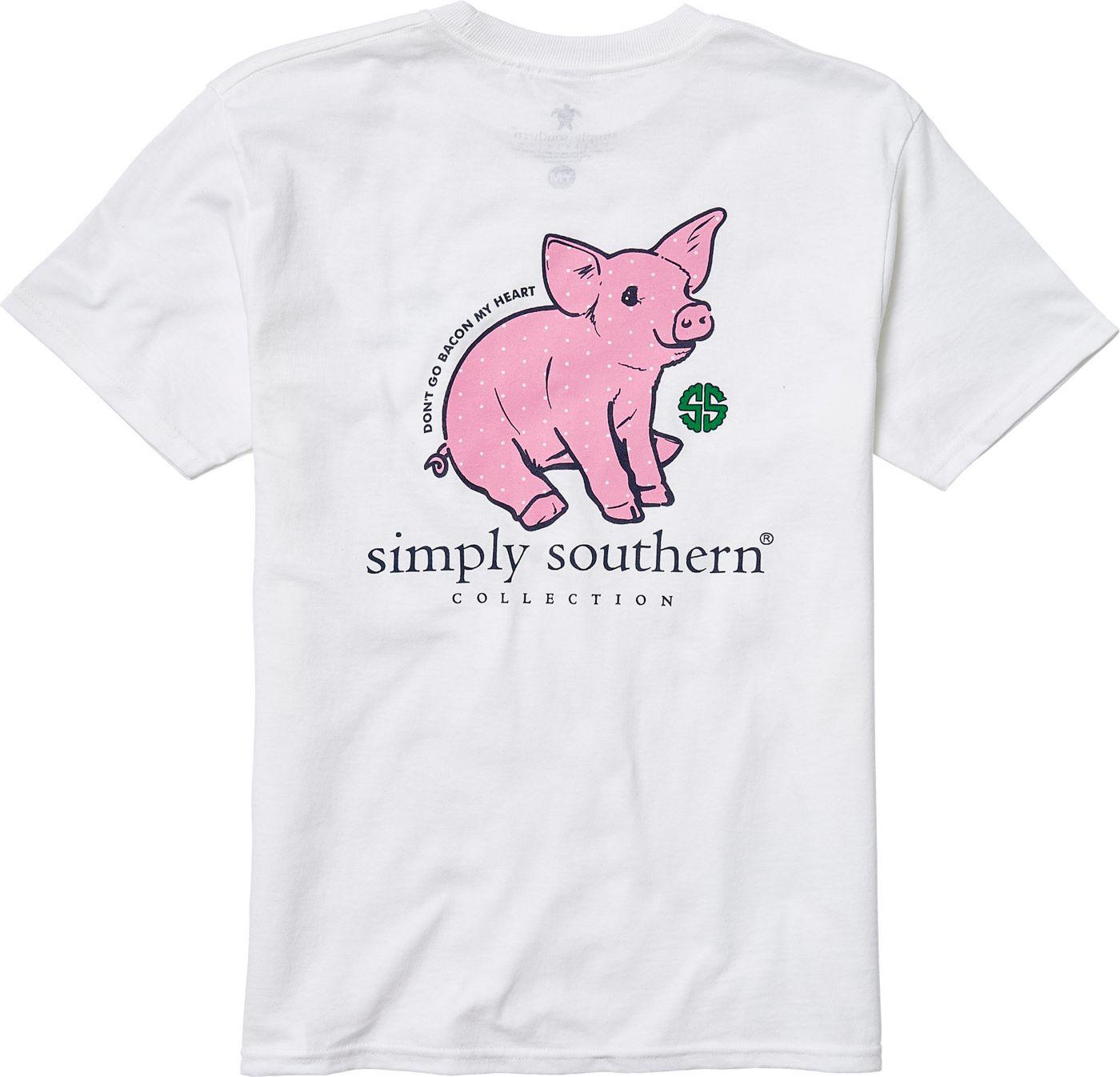 Simply Southern Girls' Pig T-Shirt