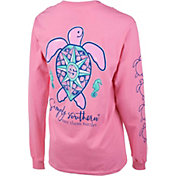Simply Southern Women's Save The Turtles Compass Long Sleeve Shirt