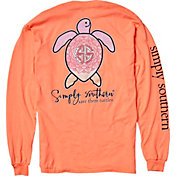Simply Southern Women's Save The Turtles Mandala Long Sleeve Shirt