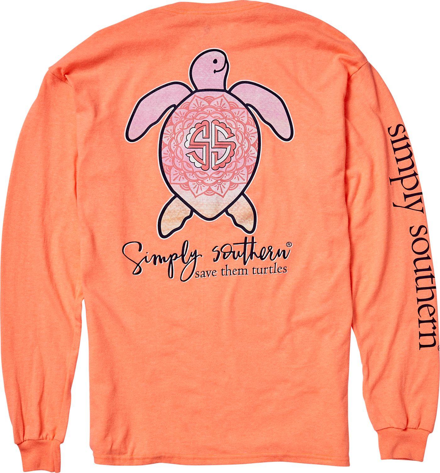 Simply Southern Women's Save The Turtles Mandala Long Sleeve Shirt