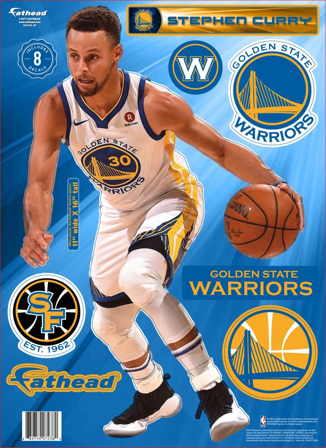 9816b7e0a20d Fathead Golden State Warriors Stephen Curry Wall Decal 1