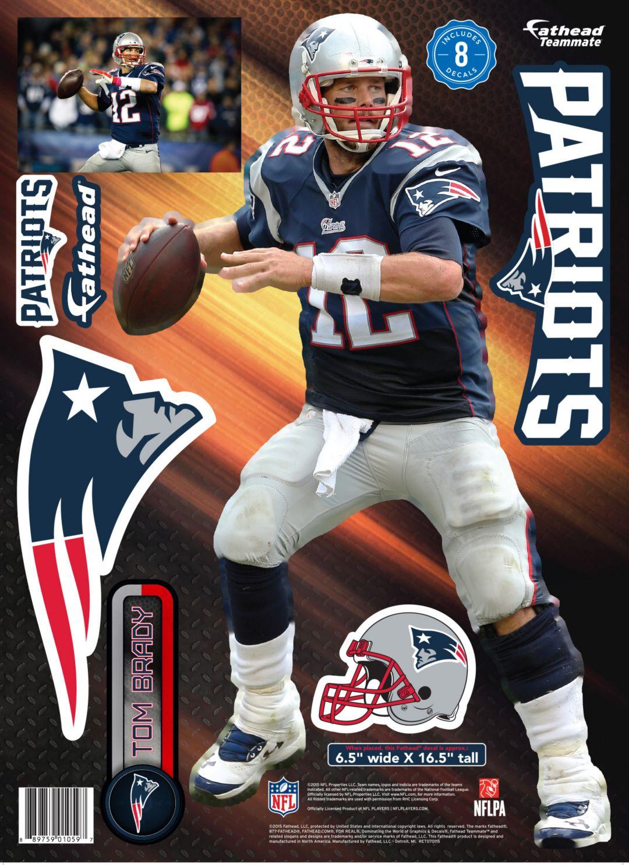 new concept 4f133 27397 Fathead New England Patriots Tom Brady Wall Decal