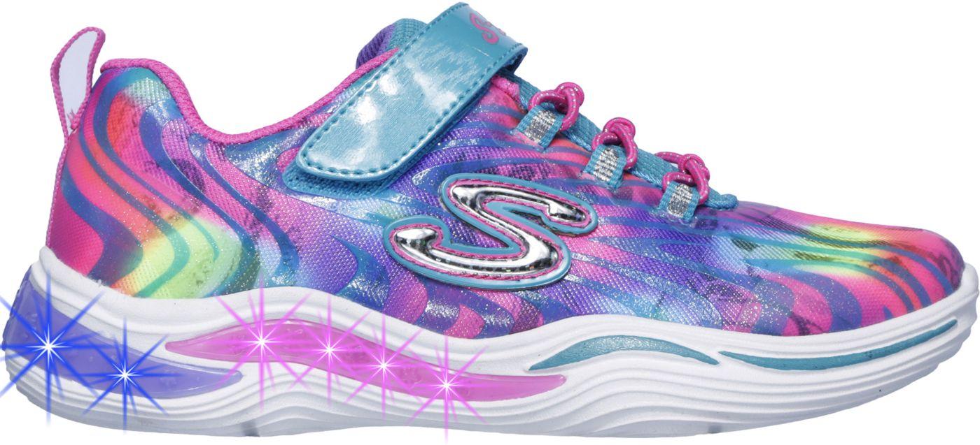 Skechers Kids' Preschool Power Petals Light-Up Shoes