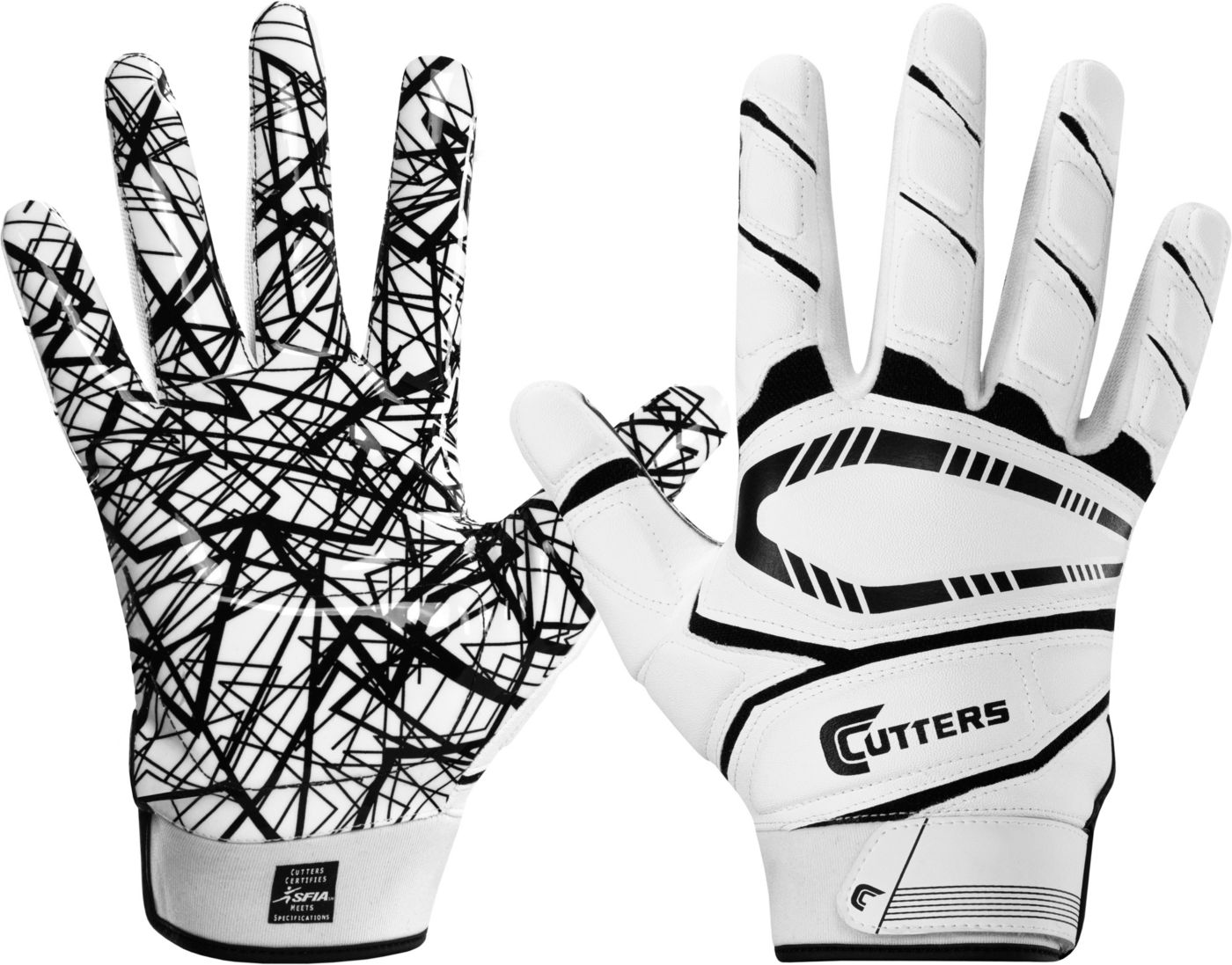 Cutters Youth Game Day Padded Receiver Gloves