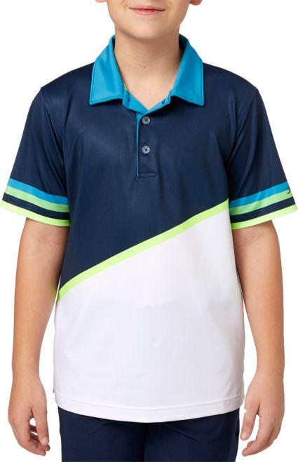 Slazenger Boy's Colorblock Stripe Golf Polo