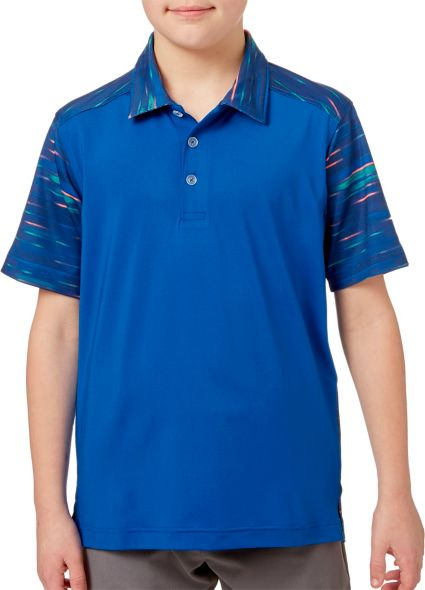 Slazenger Boys' All Over Back Printed Golf Polo