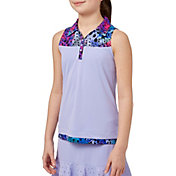 Slazenger Girls' Colorblock Sleeveless Golf Polo