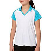 Slazenger Girls' Foil Polka Dot Golf Polo