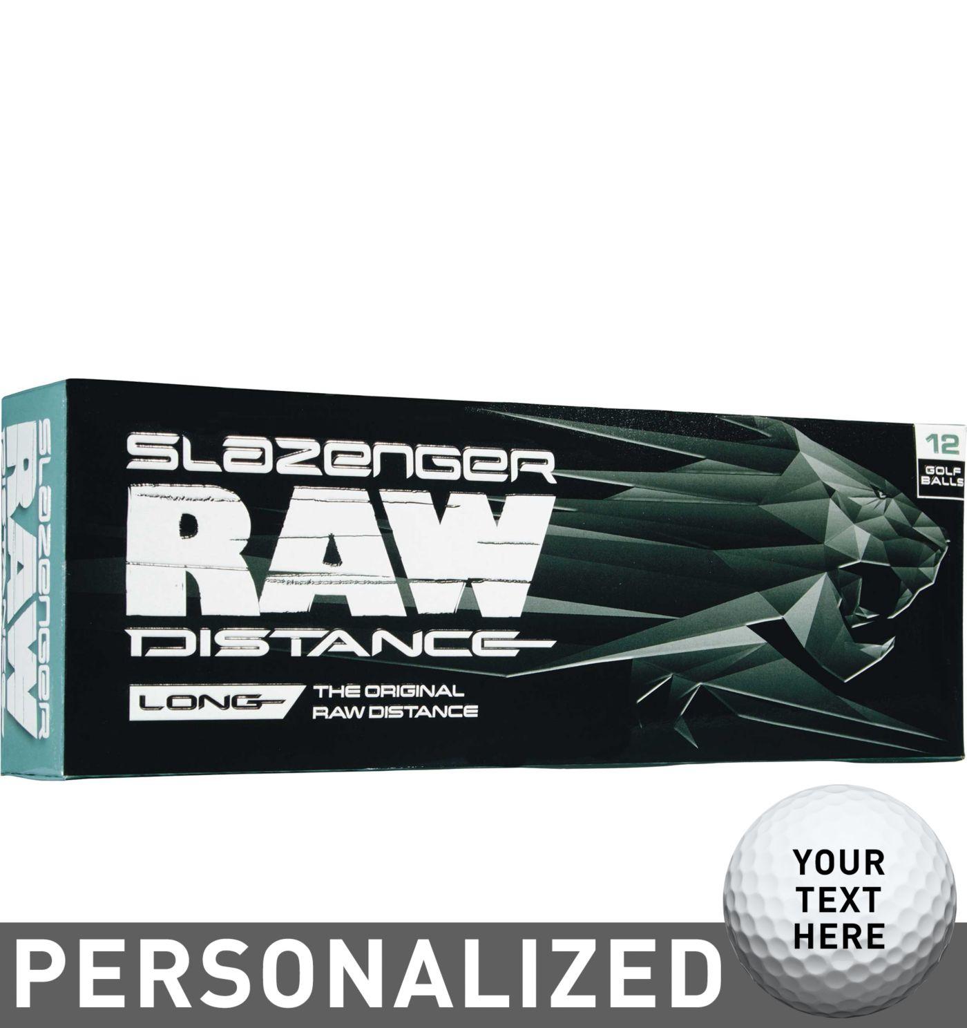 Slazenger 2017 Raw Distance Personalized Golf Balls