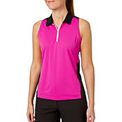 Slazenger Women's Lite Bright Collection Perforated Sleeveless Golf Polo
